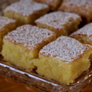 Gluten Free Lemon Brownie (Blondie) Slice