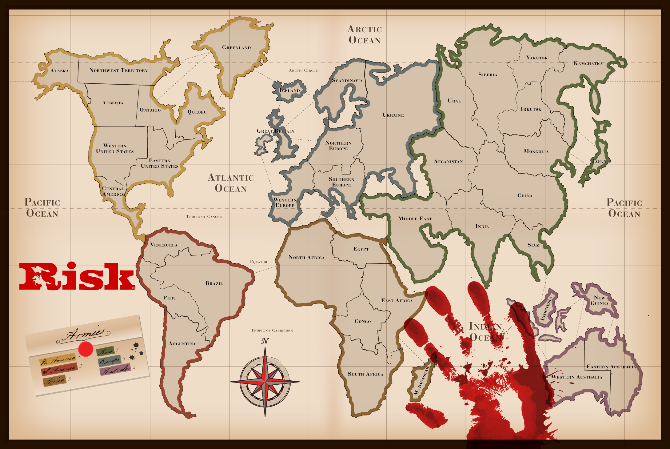 Picture of Searching and Printing the World Map