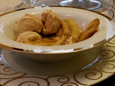 Remove From Heat and Serve With Two Scoops of Coffee Ice Cream. 4-6 Servings.