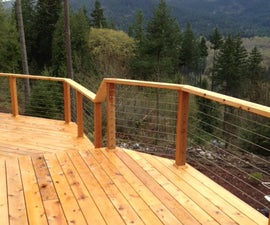 Easy-To-Install DIY Cable Railing with Wood Posts