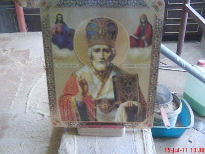 Religious Icons With Wooden Support