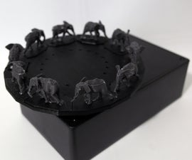 Infrared Remote Controlled 3D Zoetrope