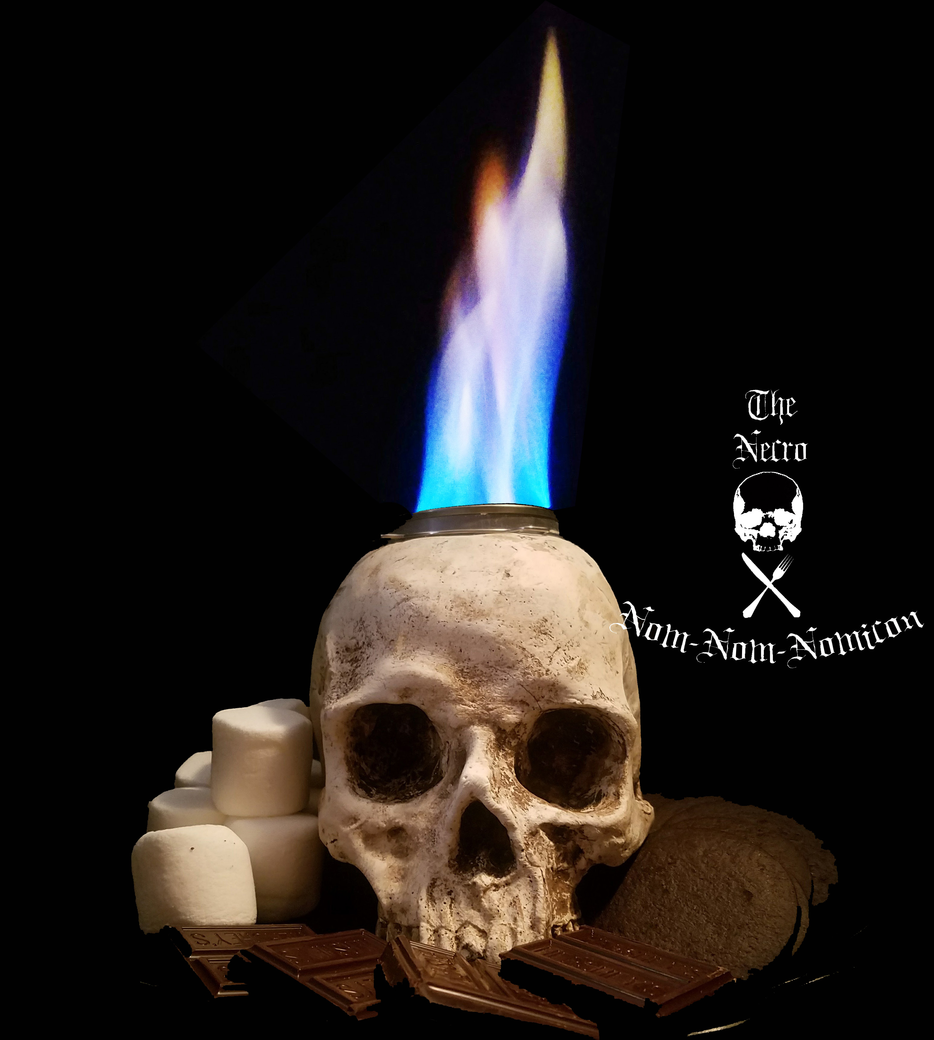 Picture of Casting Your Own Skull Table Top S'more Firepit