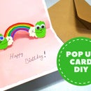 How to Make a Rainbow Pop Up Card   DIY Birthday Pop Up Card