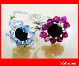How to Make Threaded Flower Crystal Ring Tutorial