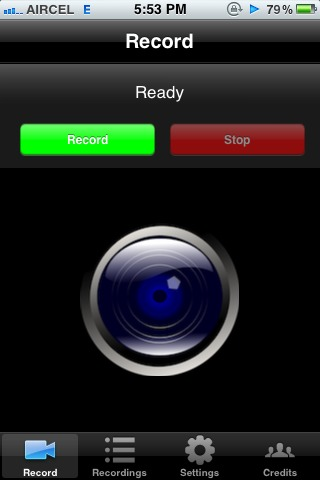 Picture of Record IPhone Screen