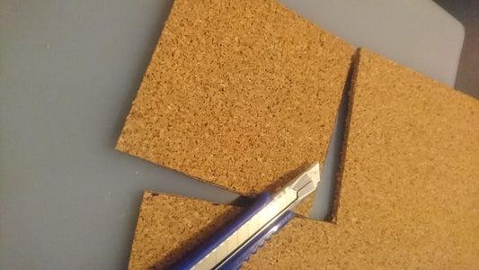 Cutting Cork Coaster Base