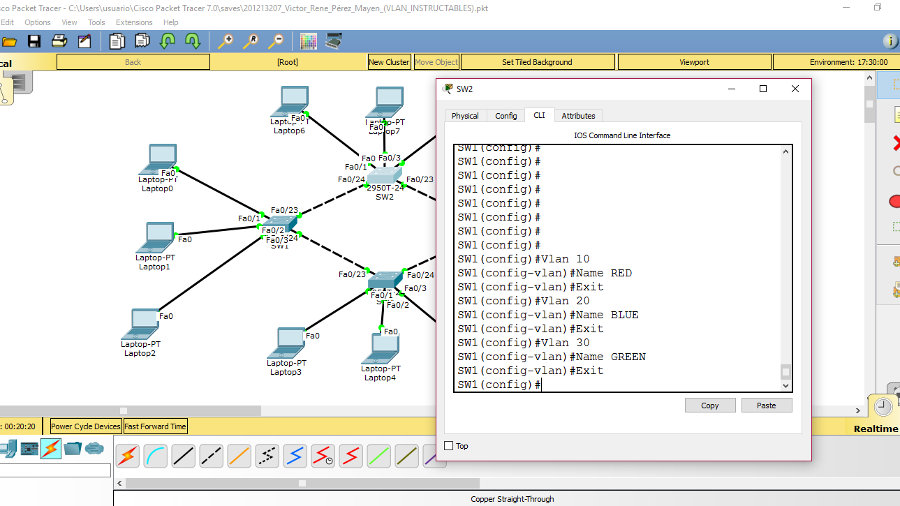 Picture of Configure Vlans on All Switches