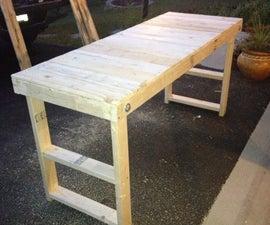 Easy, Cheap Folding Workbench!