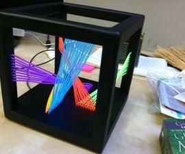 EL Wire Cube Sculpture