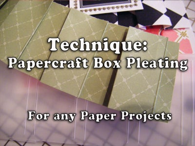 How to Make Papercraft Box Pleating