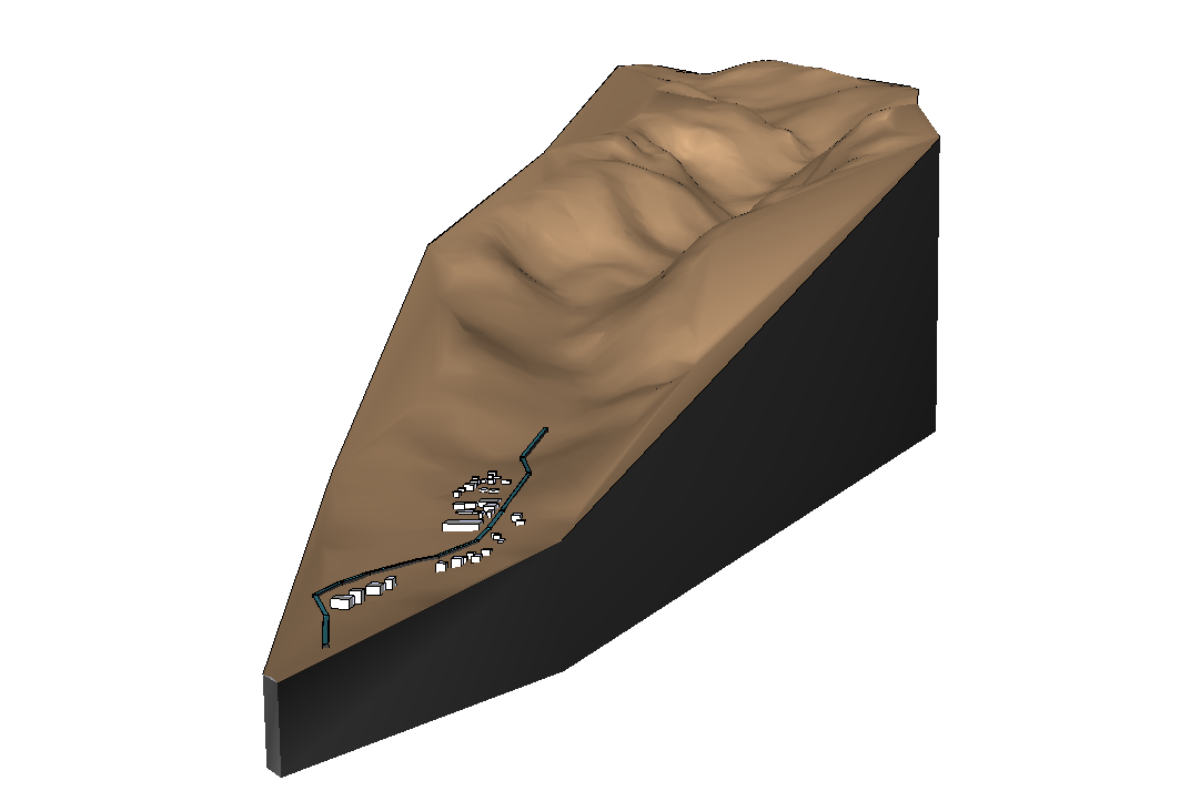 Picture of Study of a Watershed Through 3D Modeling