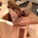 Split live edge cedar and pine box  ((mostly)no power tools)