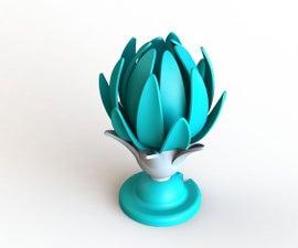 3D Printed Flower Lamp (crown Jewel)