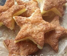 Cinnamon Sugar Pastry Star Party Snacks.
