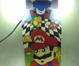 Super Mario Skateboard Light