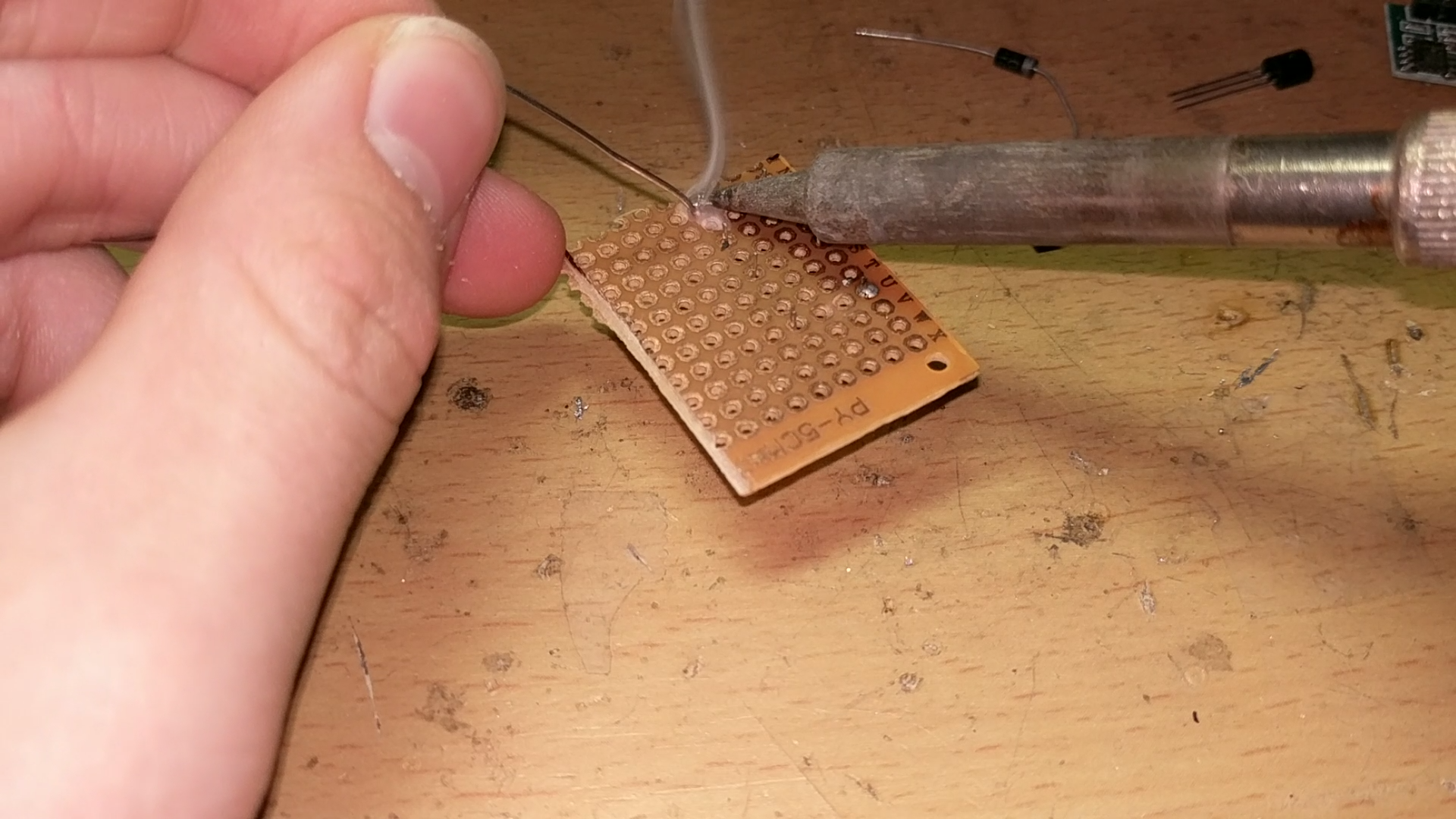 Picture of Soldering the Circuit