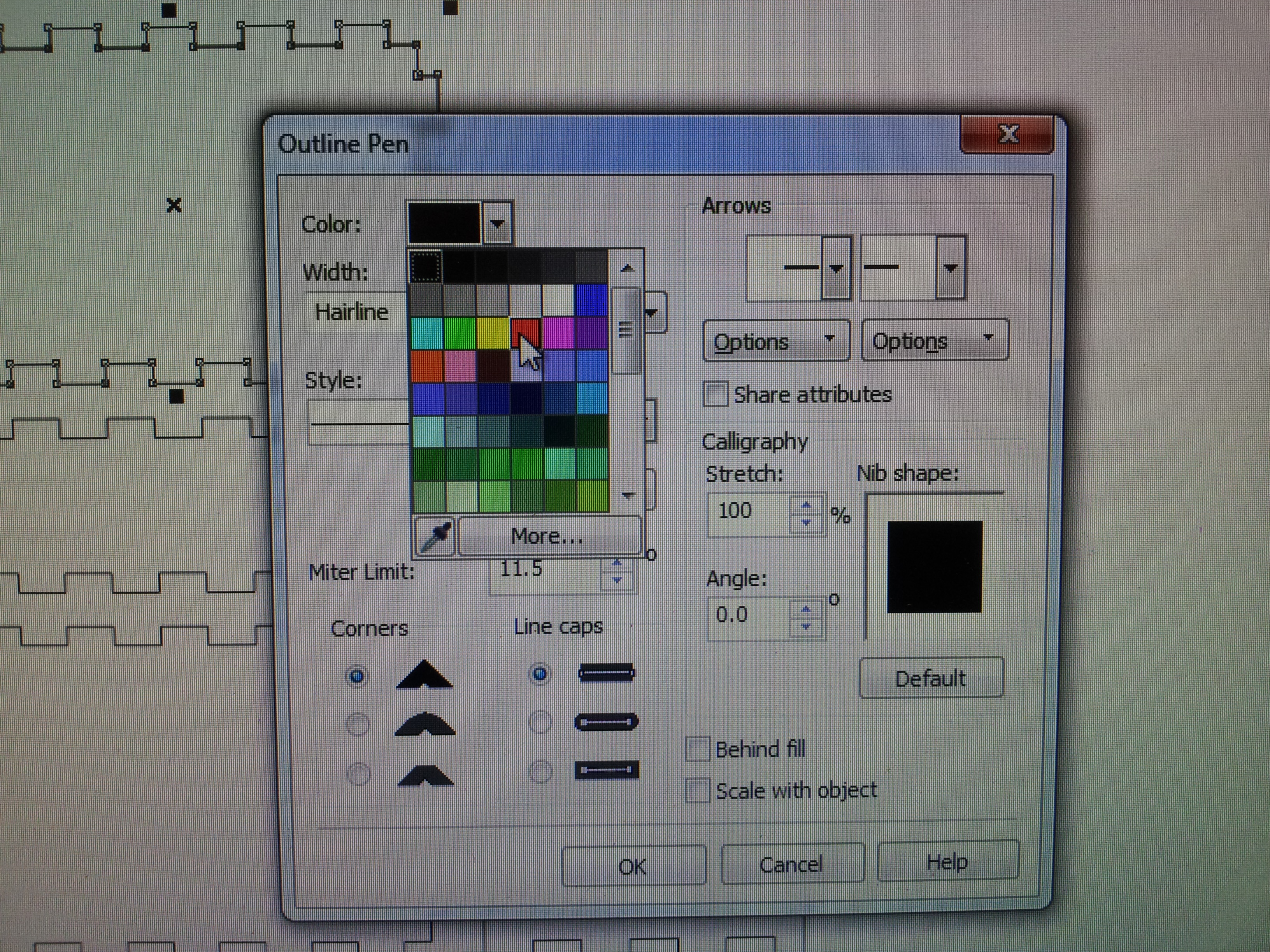 Picture of Making the Box in Corel Draw