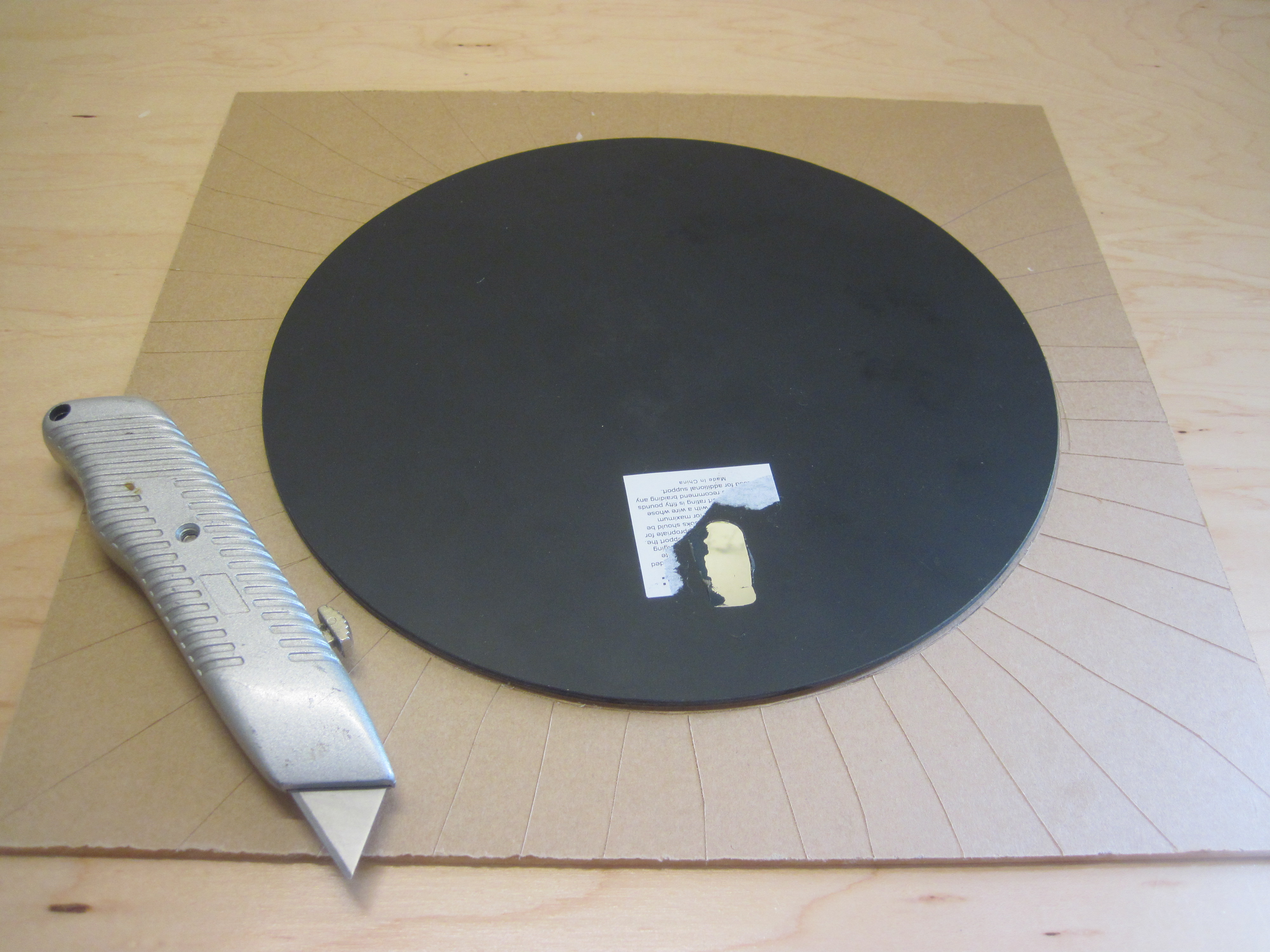 Picture of Cutting the Acrylic - Score-and-Snap