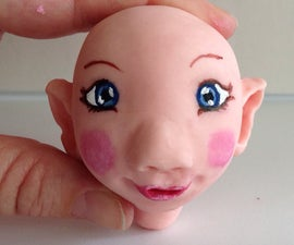 Making A Doll's Head With Cold Porcelain