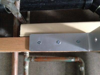 Fasten the First Steel Bracket