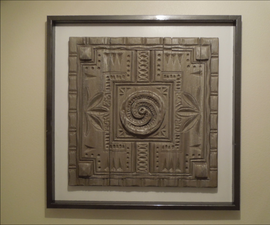 Faux Polynesian Carved Wood Relief
