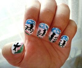 Bird Silhouette Nail Art