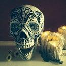 Grungy Halloween Hot Glue Drip Candles