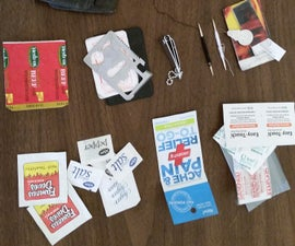 Micro Survival Wallet Kit