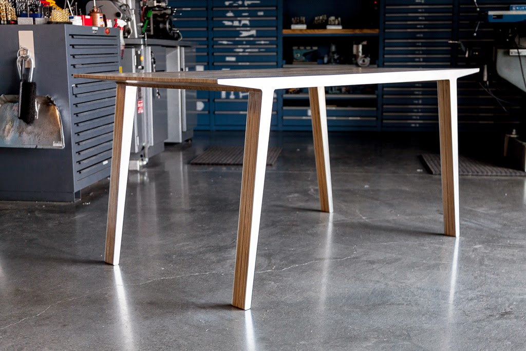 Picture of Slipstream Table (Experiments in Aluminum and Plywood Lamination)