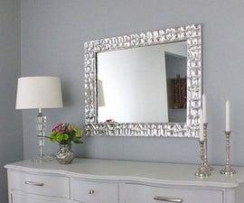 Knock-off metallic mirror frame