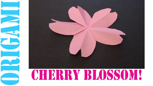 Origami Cherry Blossom Flower Folding Instructions   Origami ...   360x640