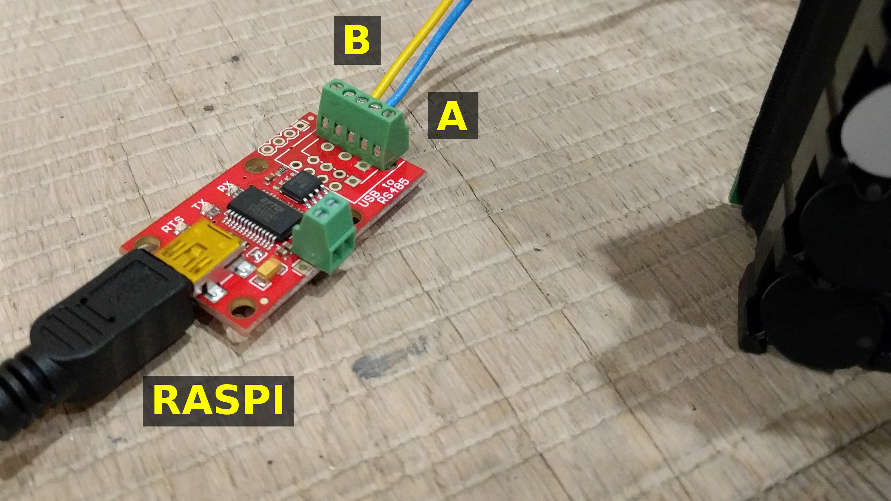 Picture of Connect Usb to Rs485 Board to Raspberry Pi