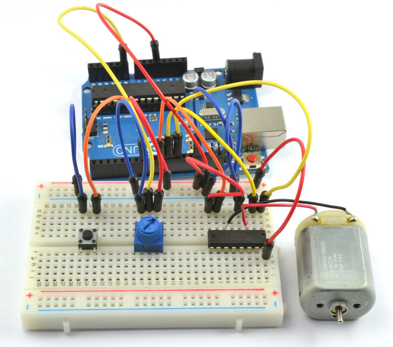 Picture of Arduino DC Motor Speed and Direction L293D