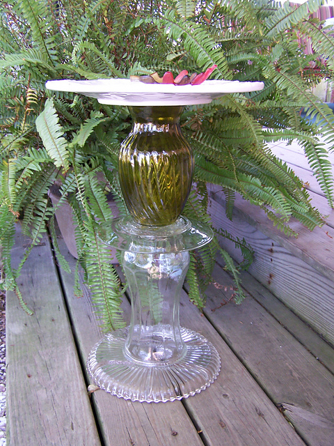 Picture of Glassware Bird Bath, Feeder, or Plant Stand