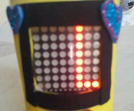 DIY Moving Message Using LED Matrix