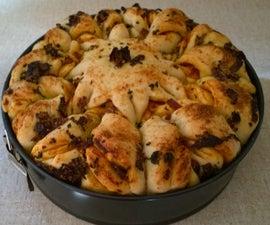 Chilli and garlic Snowflake Bread