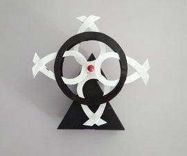 Double pendulum perpetual kinetic sculpture