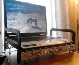 Actobotics custom laptop cooler stand