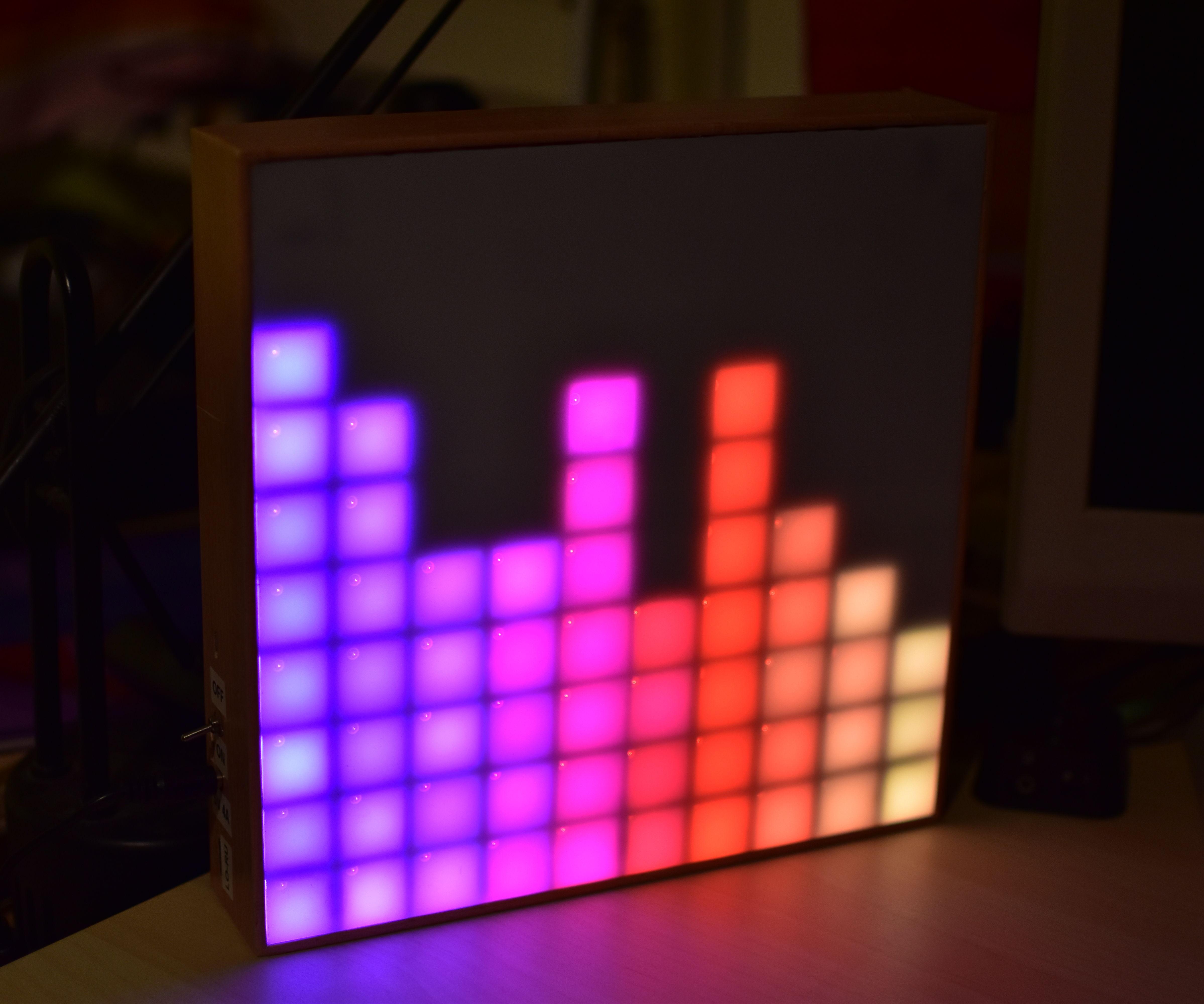 Arduino Spectrum Analyzer on a 10x10 RGB LED-Matrix: 4 Steps
