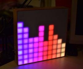 Arduino Spectrum Analyzer on a 10x10 RGB LED-Matrix