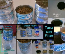 Homemade Water Filter! the 3-stage Tuna-Can Water Purifier!