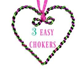 3 DIY Heart chokers   Easy & No special tools!