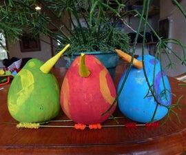 Cute Little Gourd Birds