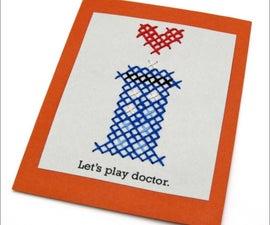 Pattern: TARDIS Cross-Stitch Valentine