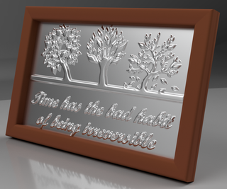 Embossing Metal Foils With 3D Printed Stencils