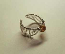 Golden snitch ring