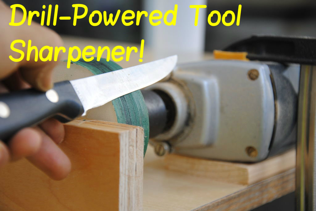 Picture of Drill-Powered Knife Sharpener! | DIY Woodworking Tools #9