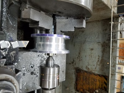 Turning the Line Spool on the Lathe
