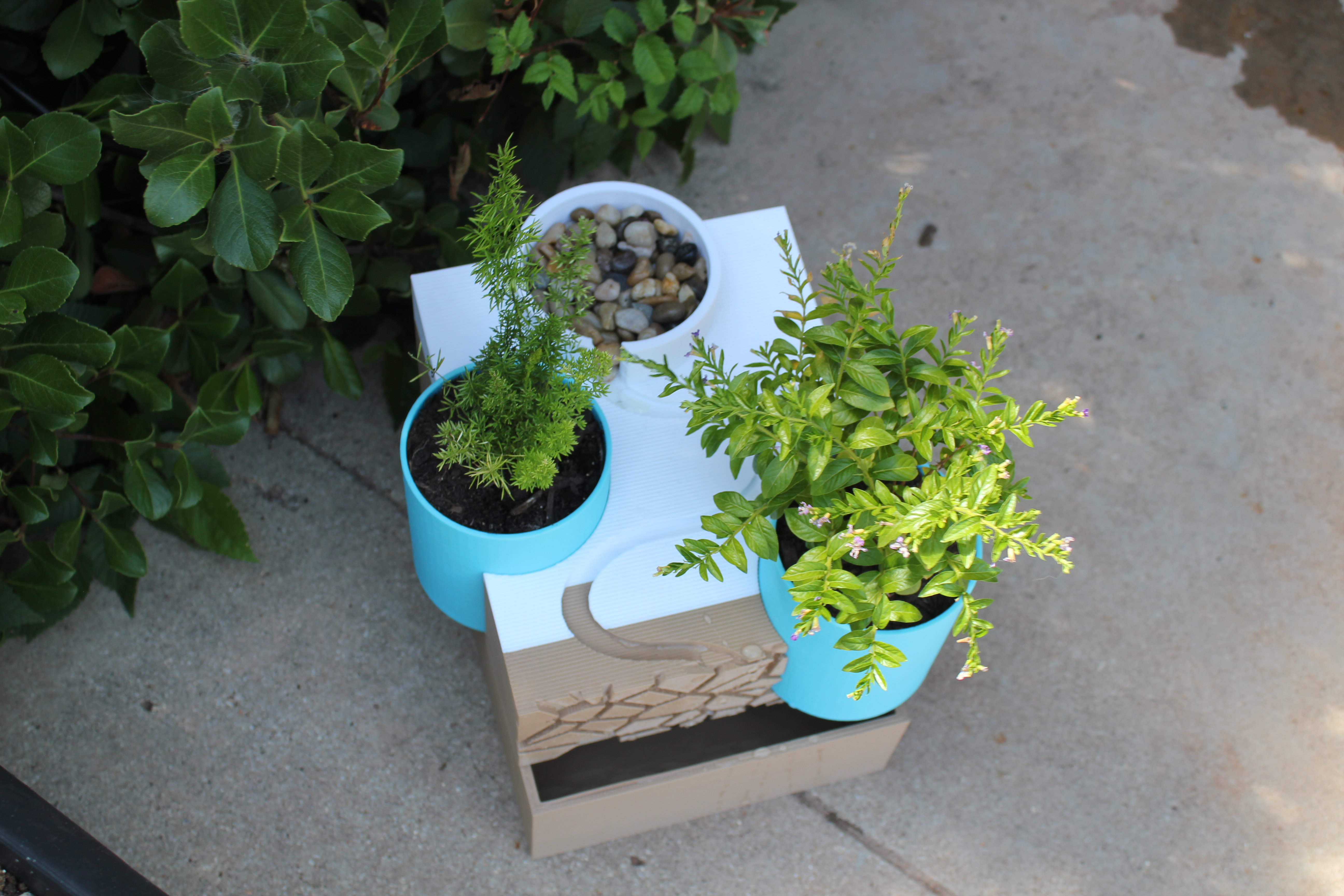 Picture of Water Fountain Planter Made With Tinkercad
